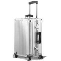 equipaje de aluminio al por mayor-2 colores para el equipaje de lujo 972 Troncos de aleación de aluminio 20/26/29 hombre regalo de San Valentín Año Nuevo de Navidad de