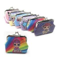 Wholesale doll rags for sale - Group buy LOL doll Girls Wallet Kids lol dolls Cartoon Party Coin Purse best gift A305