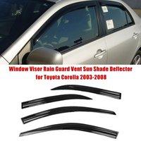 Vent Window Shade Visor Rain Guards for Toyota Corolla 09-13