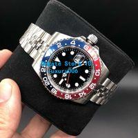 reloj de titanio para hombres al por mayor-Relojes de lujo Cristal de zafiro Relojes de pulsera impermeables Bisel de titanio GMT 126710 2836 Relojes de pulsera mecánicos automáticos para hombres 40MM