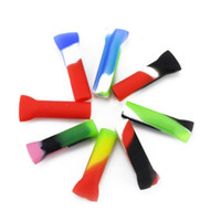 Wholesale silicone hoses resale online - Smoking Mouthtips Silicone Mouthpiece Reusable Filter Mouth Tips multiple colors Male For Hookahs Glass Bongs Hose Shisha Pipe tools