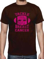 mangas de compressão de câncer de mama venda por atacado-Juventude Rodada Collar Personalizado Camisas Dos Homens Tripulação Pescoço de Manga Curta Compressão Tackle Câncer De Mama T Camisas