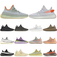 Wholesale running trainers black for sale - Group buy 2020 Kanye West Running Shoes Zyon Desert sage Earth Tail light Black Static Reflective Mens Womens Sports Sneakers Trainers