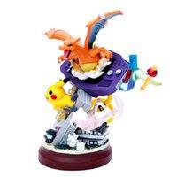anime figuren harz großhandel-Anime Harz Statue Gameboy Pika Mewtwo Charizard Action Figure Spielzeug Traumhafte pkm Figur Spielzeug Sammlung Geschenke für Kinder L