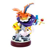 acción de la estatua al por mayor-Anime resina estatua Gameboy Pika Mewtwo Charizard figura de acción juguetes Dreamlike pkm figura colección de juguetes regalos para niños L