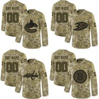 Wholesale salute service ice jerseys resale online - Coutom any name any number Washington Capitals Boston Bruins Anaheim Ducks Vancouver Canucks Camo Salute to Service jerseys