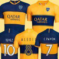 junior tops venda por atacado-TOP Tailândia Novos 2019 2020 Boca Juniors futebol Jersey 2019 GAGO CARLITOS camisa de visitado Tevez do Boca Juniors Camisetas de futbol