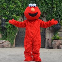 elmo kleider großhandel-Erwachsene Größe Rot Elmo Maskottchen Kostüm Party Kostüme Chirstmas Kostüm Elmo Kostüm Maskottchen Drop Shipping