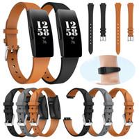 zubehör armbänder großhandel-Luxus Sport Leder Accessoires Uhrenarmband Ersatzarmbänder Uhrenarmband für Correa Fitbit Inspire / Inspire HR Strap