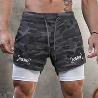 Running Shorts Men 2 in 1 Fitness Gym Sport Camouflage Quick Dry Beach Jogging Short Pants Workout Bodybuilding Training Shorts