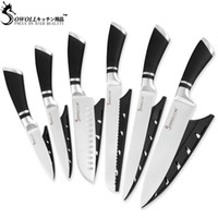 Wholesale fruit pieces resale online - SOWOLL Stainless Steel Kitchen Knife Piece Set ABS Stainless Steel Handle Japanese Chef Slicing Santoku Utility Fruit Knife