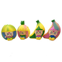 Wholesale toy kids men for sale - Group buy Squishy Fruit Man Soft PU Scented Slow Rising toys Fruit Dolls Children Decompression toys Banana Peach Pineapple Kids Toy