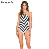 seksi beyaz kadın mayo toptan satış-Yaz Avrupa ve Amerika kadın mayo Seksi bikini kadın Siyah ve beyaz Kolaj dalga Yapışık Sapan Mayo T18013