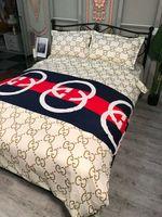 ingrosso appartamenti di lino-Brand Design Classic BBR 4 pz Set di biancheria da letto di alta qualità Luxury Soft Comfortab Summer Cover + Flat sheet + Federe Tessili per la casa Biancheria da letto