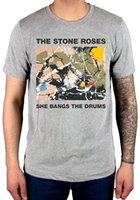 piedra gris al por mayor-Oficial The Stone Roses She Bangs Camiseta The Drums New Grey Begging You Second