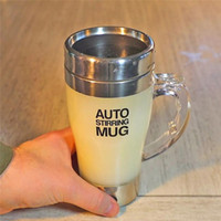 Wholesale auto keyboard resale online - AUTO STIRRING MUG Lazy Electric Stainless Steel Self Mixing water Cup Magnetic Stirring Coffee Mug AU2