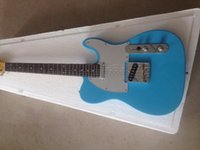 Wholesale pink blue guitars resale online - Blue silver white pink guitar board high quality electric guitar personalized service