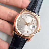 Wholesale mirrors sales for sale - Group buy hot sale DATEDAY series L model MM sapphire mirror automatic movement leather strap original buckle