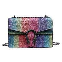 kore kumaş çanta toptan satış-Moda yaz Kore versiyonu yeni renk PU deri kumaş bayanlar omuz çantası tasarımcı stil kadın Messenger çanta cüzdan