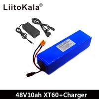 ingrosso pacchetti di batterie per biciclette-LiitoKala e-bike batteria 48v 10ah batteria Li Ion conversione pacchetto moto kit Bafang 1000w e il caricabatterie XT60 Plug