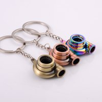 Wholesale car turbo sound for sale - Group buy designer keychain Turbine Key Chain Ring High Quality Real Whistle Sound Auto Part Model Turbocharger Keyfob Metal Car Turbo Keychain