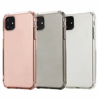 Wholesale blank cell phone cases online – custom Shockproof Clear Soft TPU Case For Iphone New inch Cell Phone Back Skin Rose Gold Crystal Blank Luxury Silicone Cover