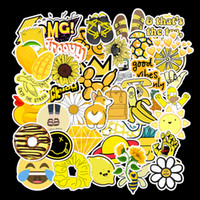 Wholesale 50 Cartoon Yellow VSCO Stickers For Chidren Toy Waterproof Sticker to DIY Suitcase Laptop Bicycle Helmet Car Decals L