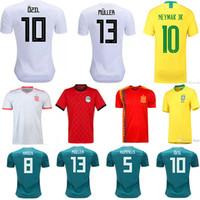 camisa muller al por mayor-Camiseta de fútbol de hombre M.SALAH RAKITIC Modric WERNER Muller MULLER MORATA ASENSIO RAMOS ISCO SILVA INIESTA uniformes de fútbol Jerseys
