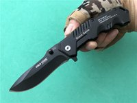 Wholesale cold steel hy217 resale online - Best gift Cold Steel HY217 Tactical Folding knife Cr17 steel blade Plain Manual opening Black sable EDC Pocket Knives Outdoor Tool P374Q F