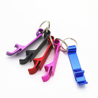 Wholesale small bottle opener keychain resale online - Pocket Key Chain Beer Bottle Opener Claw Bar Small Beverage Keychain Ring Can Do logo EEA177
