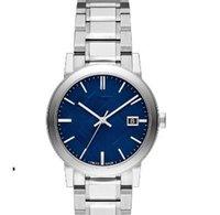 cajas de relojes originales para la venta al por mayor-Reloj de hombre de ventas calientes de alta calidad de envío gratuito 9031 b9031 reloj de cuarzo de movimiento superior reloj de plata azul rould dail con caja original