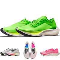 yüksek sokak ayakkabıları toptan satış-Yeni Yüksek Kalite En Popüler ZoomX Fly NEXT% Erkekler Yeşil Koşu Ayakkabıları Sokak Spor Eğitmenler Sneakers Kadınlar Açık Yürüyüş Ayakkabıları AO4568-300