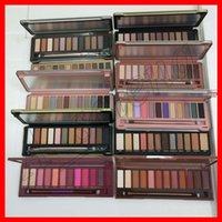 Wholesale 12 color eye shadow palettes resale online - 2018 Face Makeup Eye Shadow nude color eyeshadow palette Heat cherry eye shadow palette