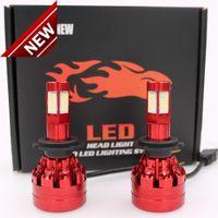 ampoules à phare au xénon achat en gros de-2pcs H7 540W 54000LM 4-côtés 32 LED Kit de phares de voiture Conversion 6000K XENON Blanc Ampoule De Voiture Paire Livraison Gratuite