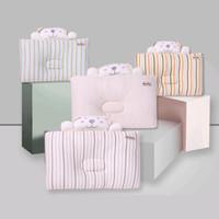 подушки с плоской головкой оптовых-Baby Shaping Pillow Prevent Flat Head Infants Cartoon Bedding Decorated Pillows Newborn Anti Roll Pillows Accessories 0-1 Years