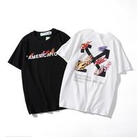 kart yuvası toptan satış-Gelgit Kartı Yedi Renk Ok Baskı T-Shirt Kısa Kollu T T-shirt Erkekler Ve Kadınlar Paragraf Boş Zaman Yaz Erkek
