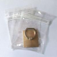 temiz küçük plastik ambalaj toptan satış-10 * 7 cm temizle Plastik fermuar opp torba perakende paketi Küçük cep telefonu aksesuarları için