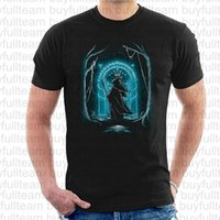 Wholesale rings m for sale - Group buy Men s Lord Of The Rings Speak Friend And Enter T Shirts Tees Mens Black Short Sleeves Tops Round Neck T Shirts Size S M L XL XL XL