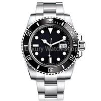 ingrosso anello di cinturino-Luxury Mens Watch Sapphire qualità della vigilanza meccanica automatica 116610LN 40 millimetri in acciaio inox cinturino in ceramica orologi impermeabili vigilanza dell'anello