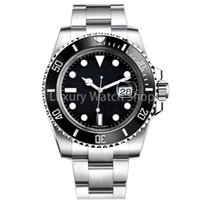 hb izle siyah toptan satış-Lüks Erkek İzle Safir Kaliteli Otomatik Mekanik İzle 116610LN 40mm Paslanmaz Çelik Watchband Seramik İzle Yüzük Su Geçirmez saatler