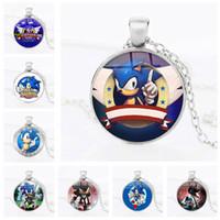 neuer schallheld großhandel-Sonic the Hedgehog Anhänger Halskette Sonic the Hedgehog Statement Halskette Neue Schmuck Geschenke Frauen und Kinder Geschenke Kinderspielzeug