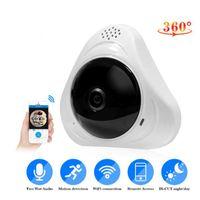 sıcak gece bebeğim toptan satış-Sıcak 960 P 360 derece Kablosuz IP Kameralar Gece Görüş Wifi Kamera IP Ağ Kamera CCTV ev güvenlik Kamera bebek monitörü 1920 * 960 P 2CUHS061