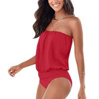 Wholesale sexy beachwear clothes for sale - Sexy Women Strapless Swimsuit Swimwear Monokini Push Up Bikini Beachwear Biquini Bathing Suit Women Swimming Clothing