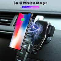 Wholesale hands free car phone holder online – Phone holder Qi Wireless Charging Charger Car Air Outlet Holder for Cell Phone Hand free Call Anti slippery Anti
