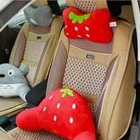 Wholesale black patterned cushions covers for sale - Group buy Universal Car Neck Pillow Cartoon Cute Animal Pattern Soft Pillow Car Seat Cushion Cover Neck Support Headrest Accessories