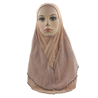 тюфяк оптовых-Muslim Hijab elastic fabric instant convenient Muslima Shawl head wear scarf Scarf Turban Headband turban headband A426
