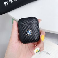 Wholesale pouch for car for sale – best Anti Knock Carbon Fiber PC Motorsport Car Metal Logo Pouch Full Protective Case Cover For Apple Airpod Earphone Wireless headphone Airpods