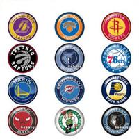 amerikanische schnappschüsse großhandel-Hot! American Herren Basketball Sport Logos Glas Druckknopf Schmuck DIY Runde Foto Cabochons Flache Rückseite TW1147 Schmuckzubehör Großhandel