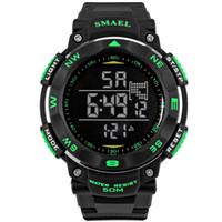 цифровые часы для дайвинга оптовых-BRW мода мужские часы Марка цифровые светодиодные часы военные мужские часы Наручные часы 50 м водонепроницаемый дайвинг открытый спортивные часы WS1235