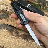 taktik bıçak kılıfları toptan satış-BM Çift eylem Otomatik bıçaklar 3350 D2 Çelik Mızrak Noktası EDC Cep Taktik dişli Survival bıçak ile naylon kılıf